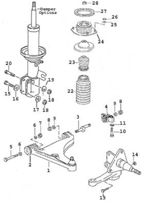 porsche 944, 944s, 944s, 944 turbo and 968 front control ... command and control wiring diagrams control arm diagrams #13