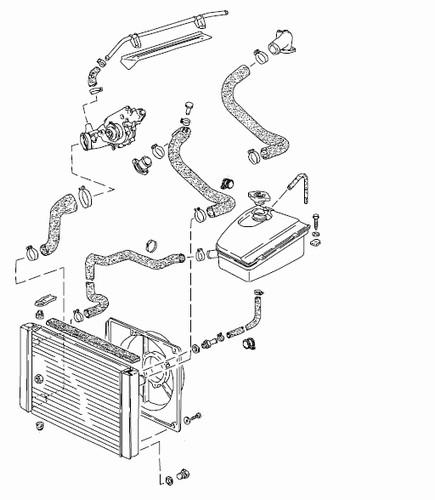944 Coolant System Radiator Hose Diagram