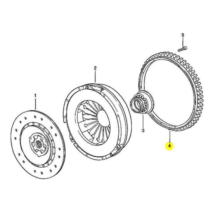 Porsche 944 Flywheel Ring Gear