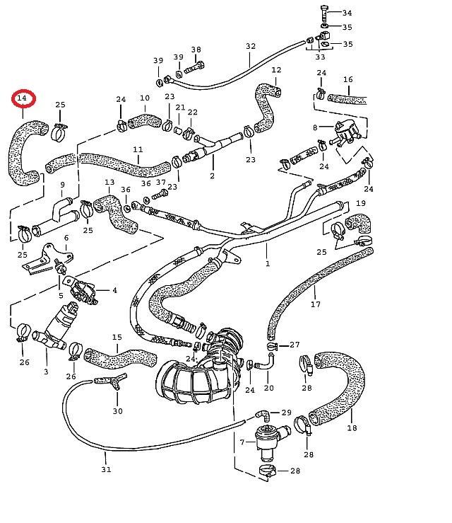 porsche 944 turbo vacuum hose