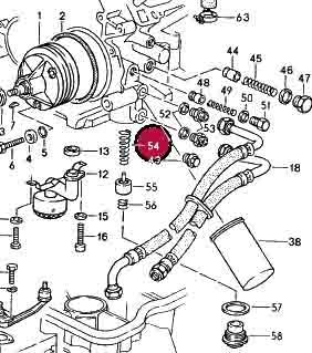 Porsche 928 Oil Pressure Thermostat.