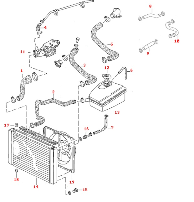 electric oil radiator wiring diagram radiator hose diagram 89 porsche 944 cooling hose kit, 8 valve.