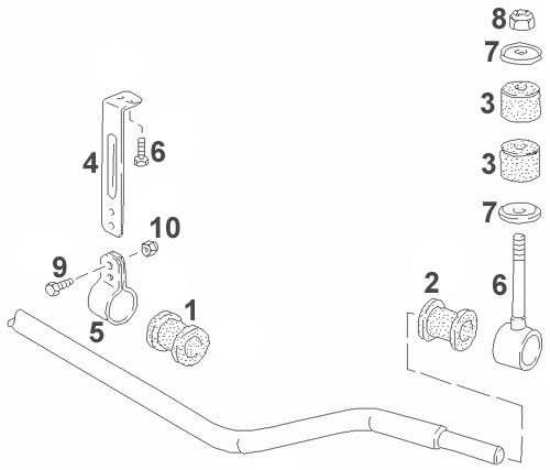 Porsche 944, 944S, 944S2, 944 Turbo And 968 Front Sway Bar