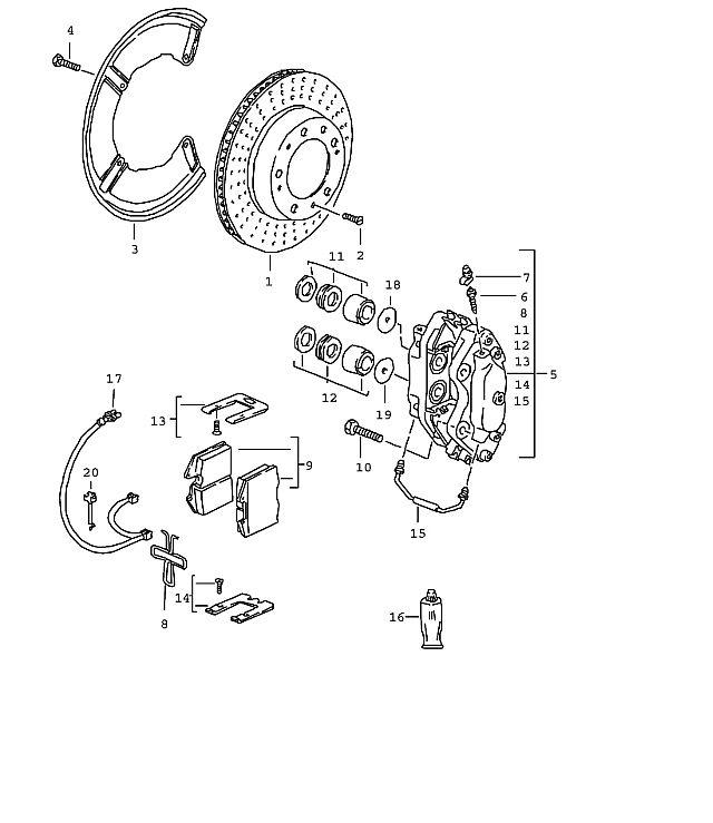 Porsche Brake Caliper Crossover 928 944 968 993