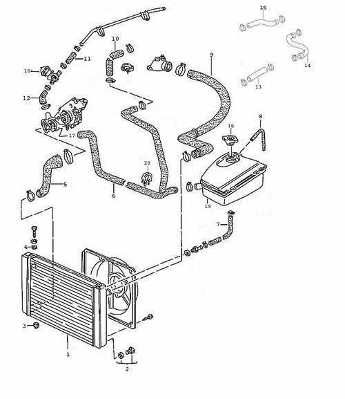 Cooling Hoses on 1993 Honda Engine Diagram