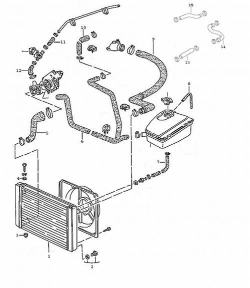 porsche 968 cooling hose kit