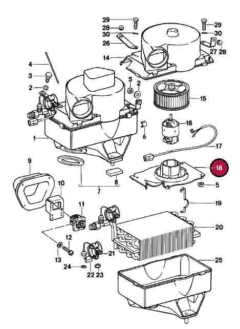 Blower Motor Support For Ac Evaporator