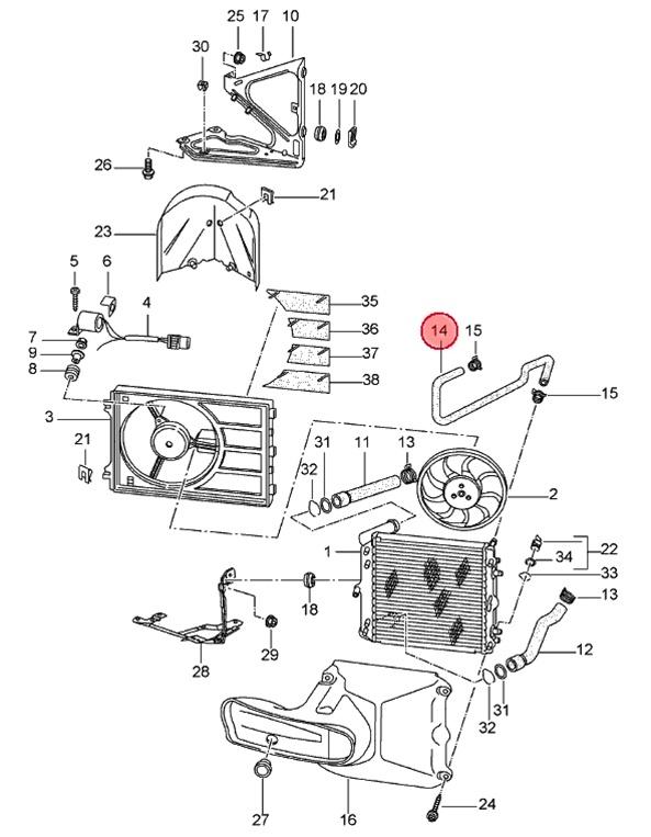 porsche 996 cooling system diagram