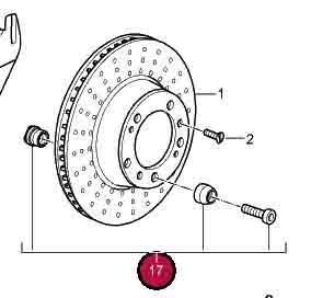 Brake Disc Driving Pin Kit