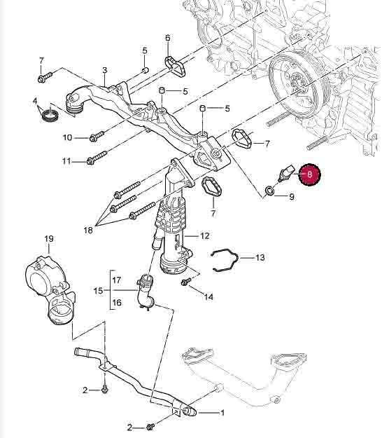 Porsche Boxster and Cayman Engine Coolant Temperature Sensor