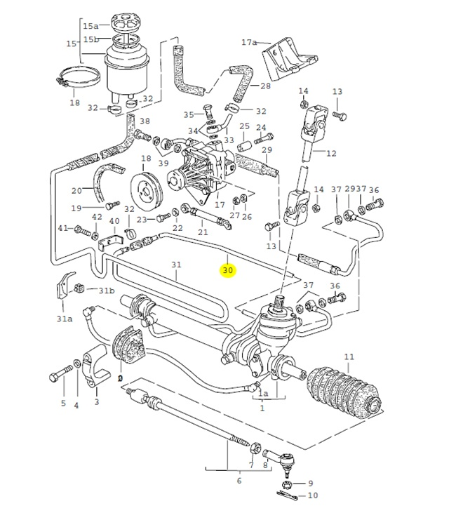 audi tt power steering diagram