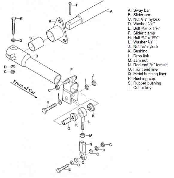Weltmeister Sway Bar Parts Porsche 911 Front